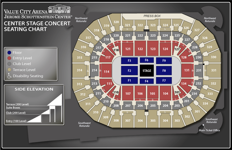 Seating charts schottenstein center