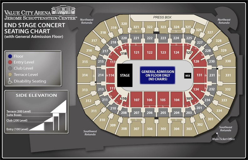 End Stage GA Floor Seating